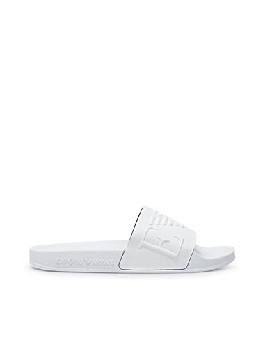 Emporio Armani  Marka Logolu Terlik Kadın Terlık X3Ps04 Xm760 D234 Beyaz